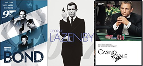 Casino Royale + George Lazenby & Before They were bond Collection + Pierce Brosnan, Timothy Dalton, Daniel Craig & Roger Moore 11 movie Set on her majesties secret service
