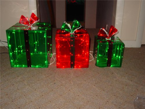 lighted gift boxes christmas indoor outdoor 150 lights presents - Lighted Christmas Presents
