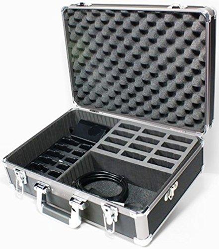 Williams Sound CHG 1012 PRO Digi-Wave 12-Bay Charger with Case, Black Fits with DLT 300, DLT 100 2.0, DLT 100 Transceivers and DLR 360, DLR 60 2.0, DLR 60 Receivers by Williams Sound (Image #1)