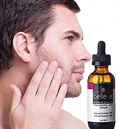 La Belleza Skincare Natural Organic Topical Anti Aging Wrinkle Serum Hyaluronic Acid Liquid with Vitamin C, E & Trylagen Signature Club Skin Care, 2 oz