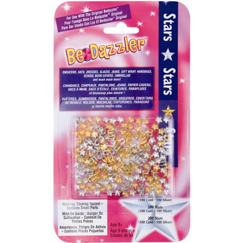 SAS BDZS Be Dazzler Stud Refill, Stars Gold and Silver, 2...