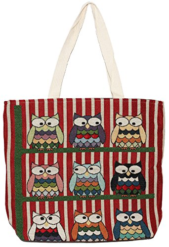 Top Tote Owl Hippie Handbag Bohemian Handle Size Shoulder Big Bag O207 YZRqZw