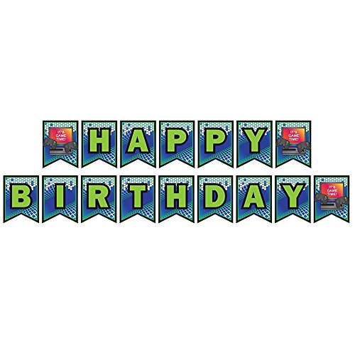 Video Game Party Jointed Banners, Video Game Party Supplies, Video Game Birthday Banner