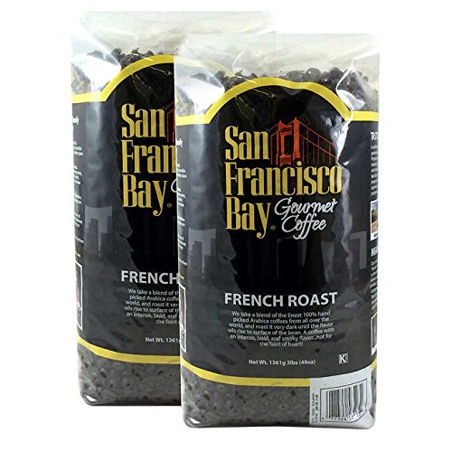 San Francisco Bay French Roast Fresh Whole Bean Coffee-3 Lbs (2 Pack)