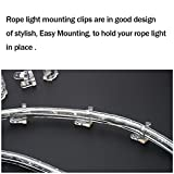 LED Rope Light Clips Holder – 100Pack 1/2 inches clear PVC Mounting Rope Light Mounting Clips By Apoulin