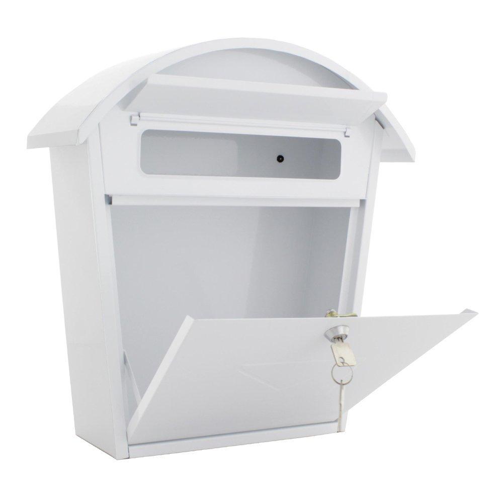 color blanco Buz/ón de correo grande acero, apertura frontal Rottner Jesolo