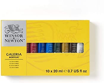 Winsor & Newton 2190525 Acrylic Paint 10 Tube Set