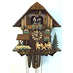 1-Day Black Forest House and Beer Drinkers Cuckoo Clock