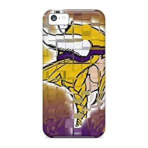Rugged Skin Case For Iphone 5/5S Cover Eco-friendly Packaging(minnesota Vikings Nfl Team Logos)