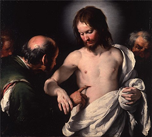 Oil Painting 'Bernardo Strozzi - The Incredulity Of Saint Thomas,c 1620', 10 x 11 inch / 25 x 28 cm , on High Definition HD canvas prints is for Gifts And Bed Room, Foyer And Hallway Decoration, HD (Thomas 10 Inch Frying Pan compare prices)