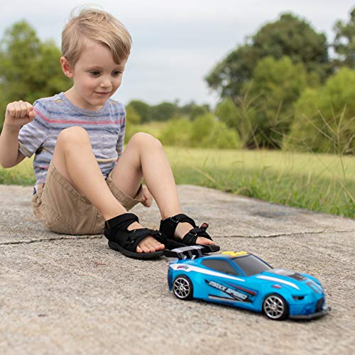 Sunny Days Entertainment Race Car – Lights and Sounds Racing Toy with Motorized Drive | Light Up Sports Toys Vehicle Gift for Kids | Color May Vary – Maxx Action, Multi