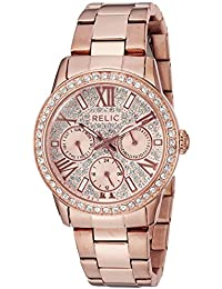 Women's 'Olivia' Quartz Stainless Steel Casual Watch, Color:Rose Gold-Toned (Model: ZR15874)