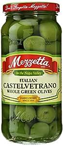 Glass Mezzetta Italian Castelvetrano Whole Green Olives, 10 Ounce