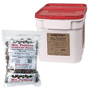 Mrs. Pastures Cookies for Horses - (15lb Bucket) 2