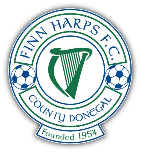 Finn Harps Ireland Soccer Football Vinyl Decal Sticker Car Decal Bumper Sticker for Use on Laptops Windowson Water Bottles Laptops Windows Scrapbook Luggage Lockers Cars Trucks