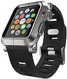 LUNATIK EPIK Aluminum Case and Silicone Strap for Apple Watch Series 1, Silver/Black