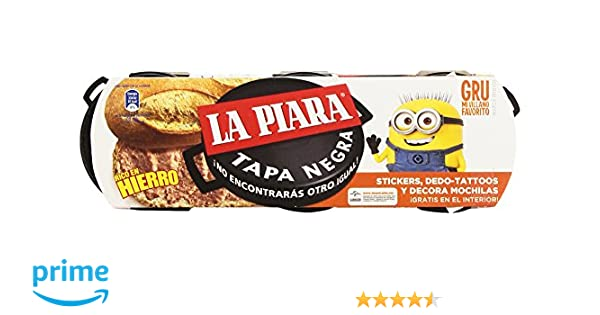 La Piara Tapa Negra Paté de Hígado de Cerdo -Pack de 3 x 75 g - Total: 225 g: Amazon.es: Amazon Pantry