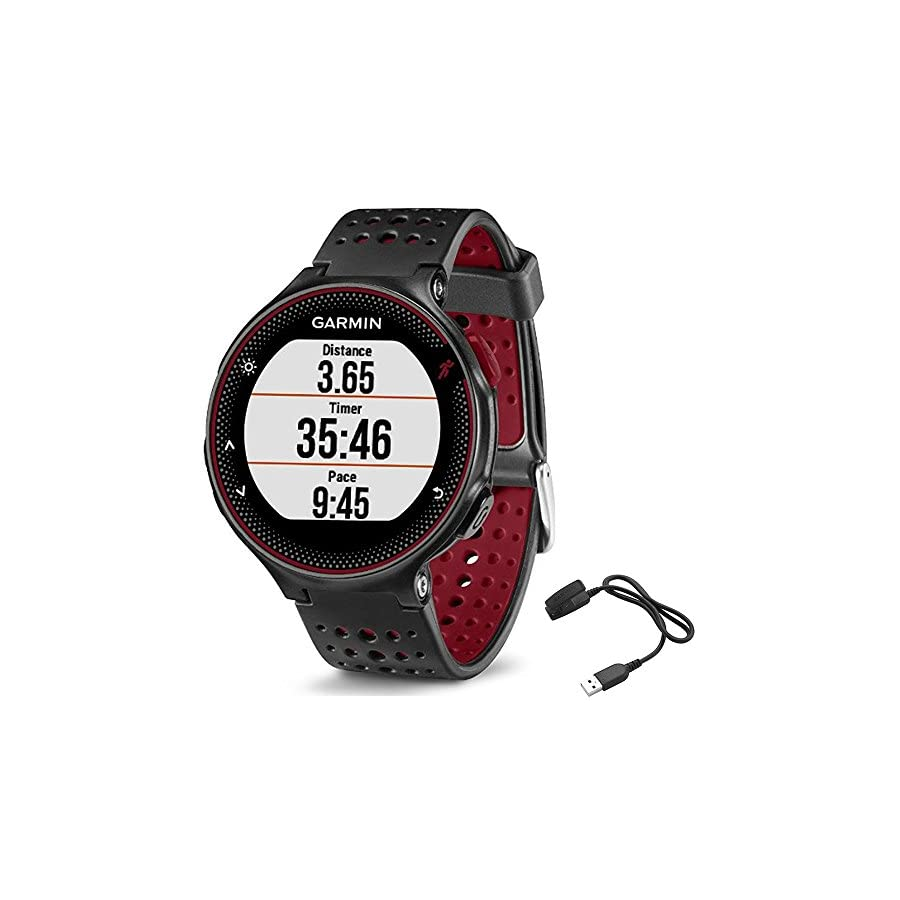 Garmin Forerunner 235 GPS Sport Watch Marsala Charging Clip Bundle Includes Forerunner 235 GPS and Charging Clip