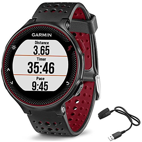 Garmin Forerunner 235 GPS Sport Watch – Marsala – Charging Clip Bundle includes Forerunner 235 GPS and Charging Clip