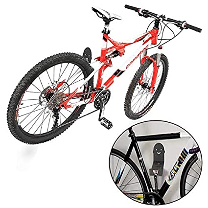 Soporte de pared para bicicleta de metal con clip y cierre para ...