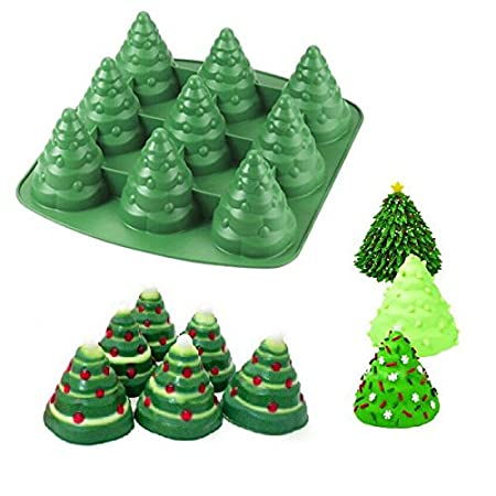 Bluel Over 3d Christmas Tree Cake Moulds Silicone Cake Chocolate