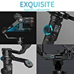 FeiyuTech AK4500 DSLR Camera Stabilizer, The Godzilla Gimbal, Payload 4.6 KG for Sony Canon Panasonic Nikon, Detachable Design, Lock Button, LCD Touch Screen Include Motion Controller 7