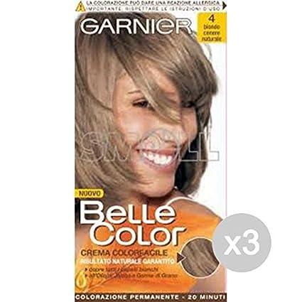 Set 3 Belle Color 4 Biondo Cenere Tinta E Colore Per Capelli