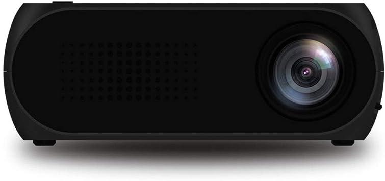 Opinión sobre Yuzhigang Proyector Inteligente, Mini proyector LED de Teatro Inicio, Soporte HDMI y AV & SD & USB 320 * 240 (Negro) (Color : White)