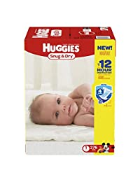 Huggies Snug & Dry Diapers, Size 1, 276 Count (One Month Supply) (Packaging may vary) BOBEBE Online Baby Store From New York to Miami and Los Angeles