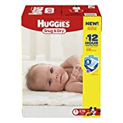 HUGGIES Snug & Dry Diapers, Size 1, for 8-14 lbs., One Month Supply (276 Count) of Baby Diapers, Packaging May Vary