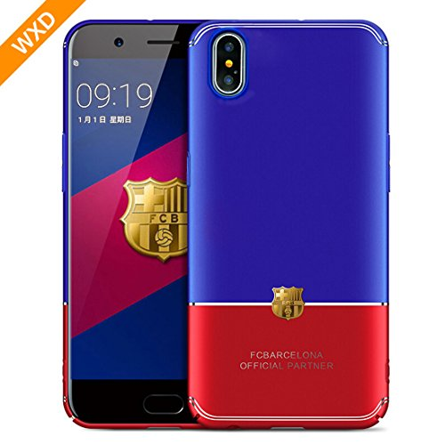 iPhone X Case iPhone 10 Case For the World Cup Barcelona,WXD Luxury iPhone Back Anti-Scratch Bright Ultra-Thin Bumper Case Cover Blue & Red [Ultra Thin][Slim Fit][Hard PC] for Apple iPhone X