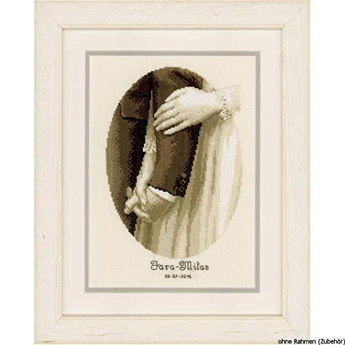 Vervaco Wedding Record Newly Weds Cross Stitch Kit