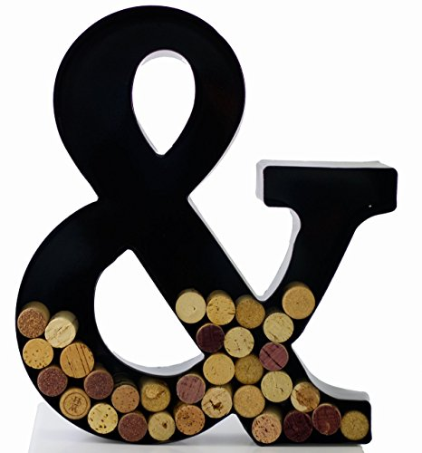 Wine Cork Holder - Metal Monogram Letter (&) (Wine Letters)