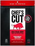 Chef's Cut Gluten Free Real Steak Jerky, Original Recipe, 2.5 Ounce (Pack of 4)