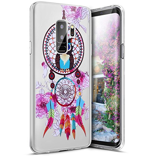 Funda Galaxy S9 Plus,Funda para Samsung Galaxy S9 Plus,Surakey de Silicona Transparente con Patrón de Diseño ,Simple Soft Silicone Case Cover Funda Protectora Carcasa ,Claro Caso Flexible Suave Caja D Búho