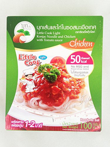 Konjac Noodles and Chicken with Tomato Sauce 50 kcal 100 g (Red Pack Pizza Sauce)