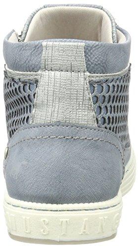 Mustang 1246-501-875, Zapatillas Altas para Mujer Azul (875 Sky)