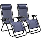 Best Beach Lounge Chairs - Homall Zero Gravity Chair Adjustable Folding Lawn Lounge Review