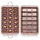 Easy Bake And Slicer Brownie Pan Cooking Tray Amazon Co