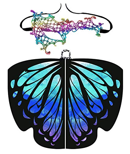 Shireake Baby Christmas/Party Prop Soft Fabric Butterfly Wings Shawl Fairy Ladies Nymph Pixie Costume Accessory … (168x135CM, Star Sky) ()