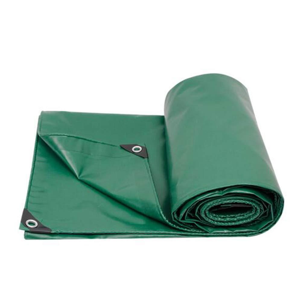 DALL ターポリン アウトドア タープ サンシェード ダブルサイド 防水 不凍液カバー布 450G /M² (色 : 緑, サイズ さいず : 4×6m) 4×6m 緑 B07KZWJK6H