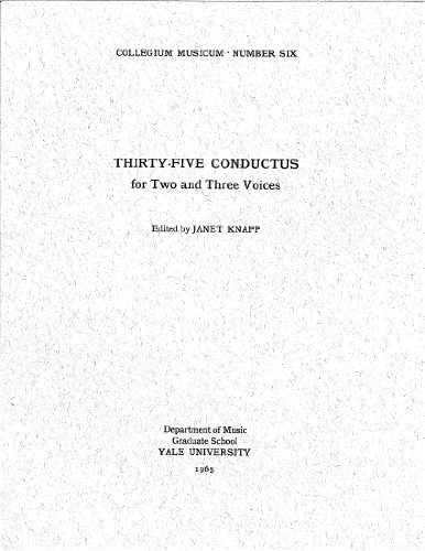 Thirty-Five Conductus for Two and Three Voices (Collegium Musicum, Number Six)