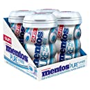 Mentos Pure White Sugar-Free Chewing Gum with Xylitol, Sweet Mint, 50 Piece Bottle (Pack of 4)