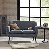 Davenport Rolled Arm Settee Charcoal See below