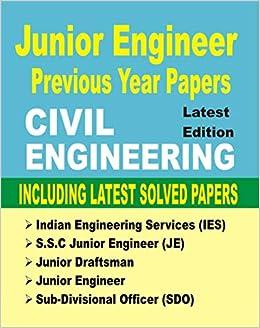 Buy Civil Engineering JE Junior Engineer Previous Year
