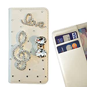 Cat Family Crystal Diamond Waller Leather Case Cover - FOR XIAOMI 5 - Music Melody -