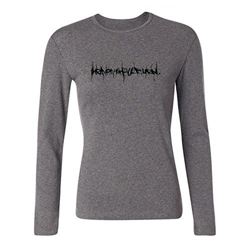 XIULUAN Women's Heaven Shall Band Logo Metalcore HSB Long Sleeve T-shirt Size XL - Zeiss Apparel