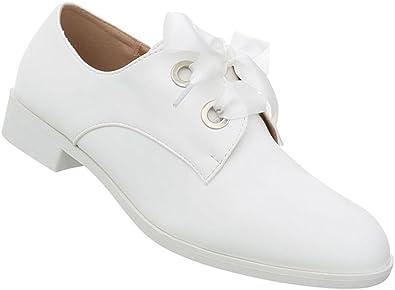 Damen Schuhe Halbschuhe Schnürschuhe Schnürer Coole Flache