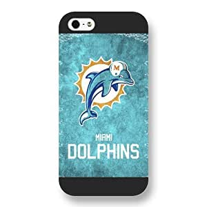 DiyPhoneDiy NFL Series Case For Samsun Galaxy S4 I9300 Cover , NFL Team Miami Dolphins Logo For Samsun Galaxy S4 I9300 Cover , Only Fit for For Samsun Galaxy S4 I9300 Cover (Black Frosted Shell)