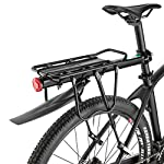 51E rgJM04L. SS150 ROCKBROS Portapacchi Bici Alluminio Universle Regolabile per Bici MTB Portapacchi Posteriore Mountain Bike capacità…